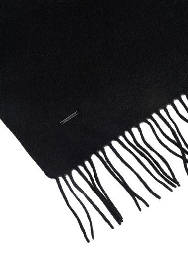 Silk and Cashmere Saf Kaşmir Patrick Tek Taraflı Atkı 30x160 Siyah